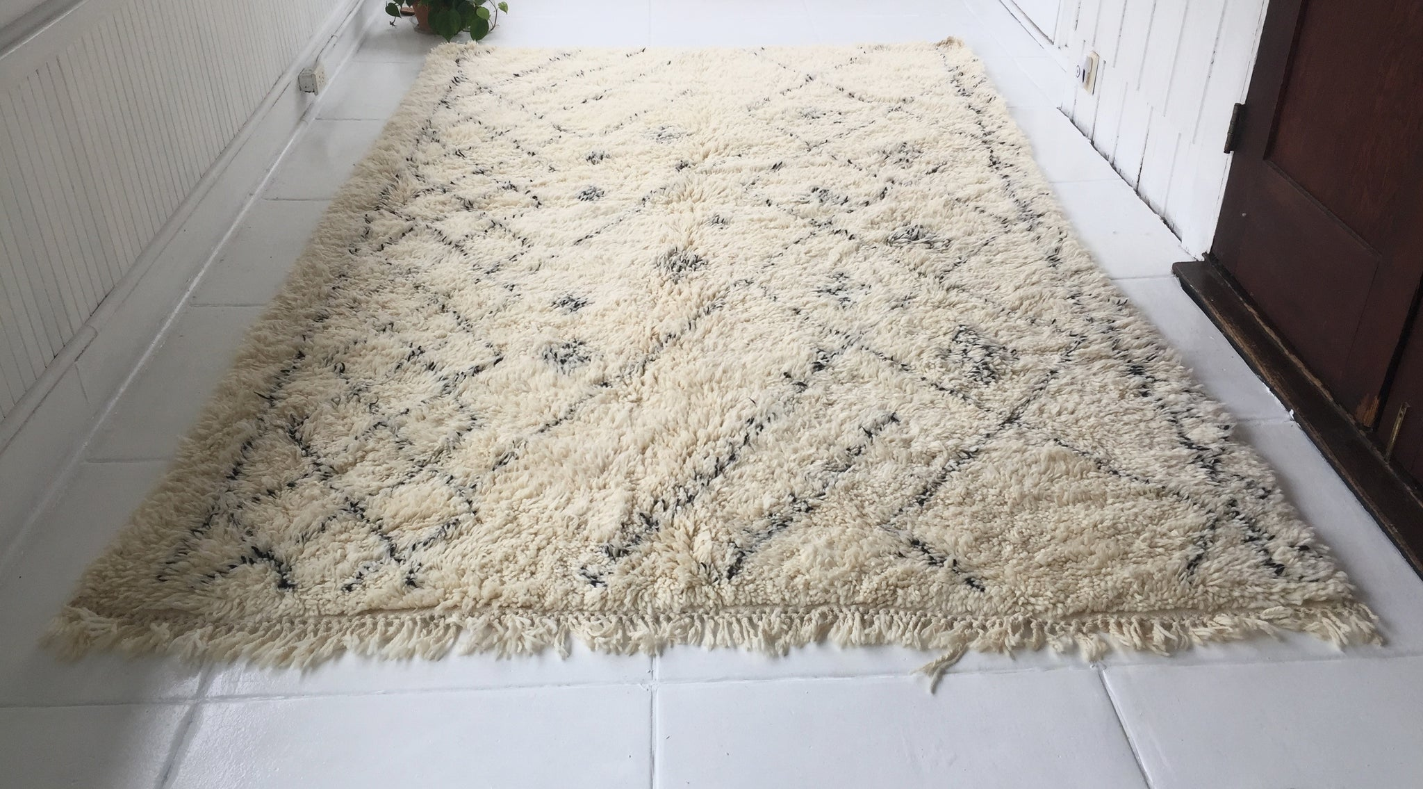 """Abigail""//Moroccan Beni Ourain Rug 9'10"" x 6'6""(highest quality)"