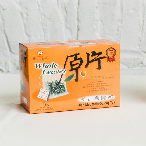 Whole Leaves High Mountain Oolong Tea
