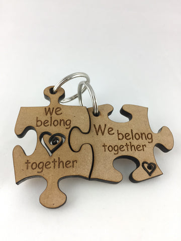 Couple's Key Ring - We Belong Together