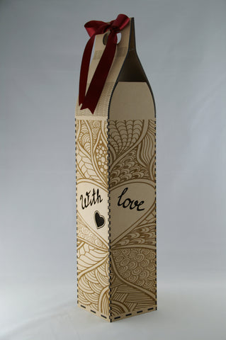Wine Bottle Gift Box - With Love