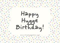 Shop Hygge Box Gift Card - Happy Hygge Birthday