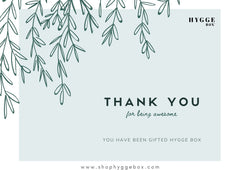 Shop Hygge Box Gift Card - Thank You