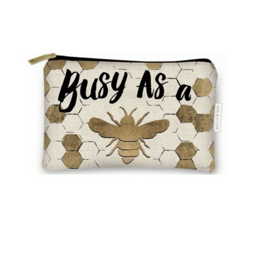 Busy Bee Canvas Pouch