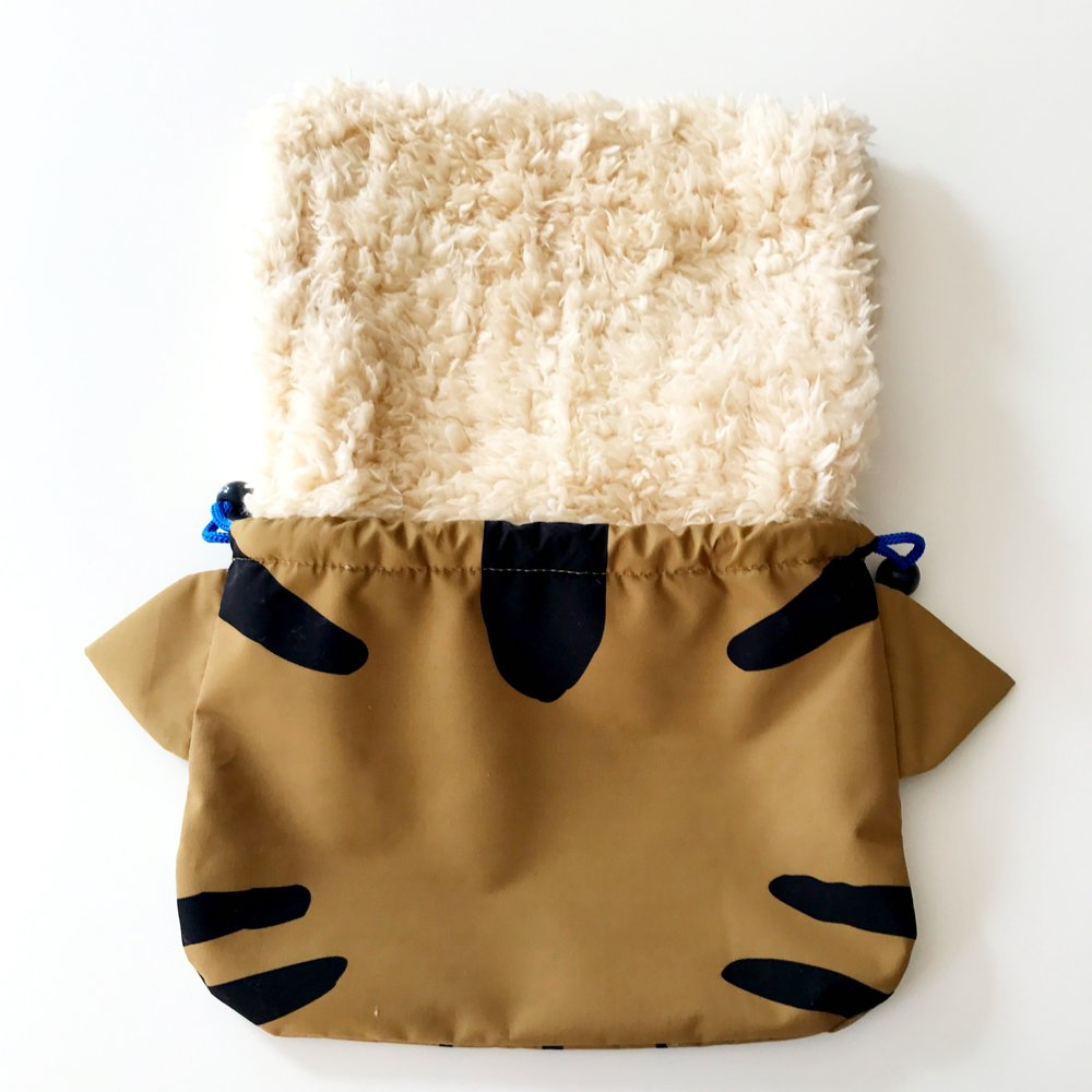 Cat Drawstring Pouch with Lining