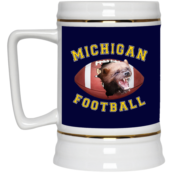 "Jake Custom Products ""MICHIGAN FOOTBALL"" 22oz Beer Stein"