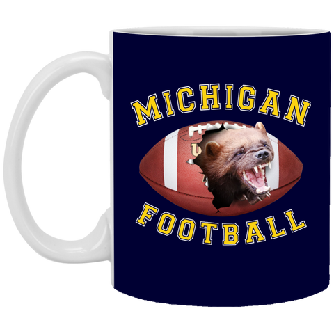 "Jake Custom Products 3D ""MICHIGAN FOOTBALL"" 11oz Coffee Mug"