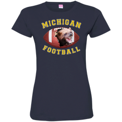 "Jake Custom Apparel WOMEN""S Michigan Football Tee Shirt 3D ""MICHIGAN FOOTBALL"" T-Shirt & Hoodie"