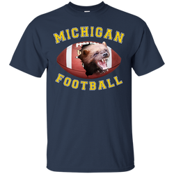 "Jake Custom Apparel University Of Michigan Tee Shirt 3D ""MICHIGAN FOOTBALL"" T-Shirt"
