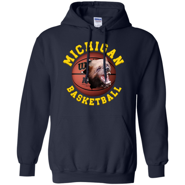 University Of  Michigan Basketball Tee Shirt With Clasic 3D Graphic Design Michigan Hoodie