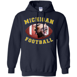 "Jake Custom Apparel University Of Michigan Football Tee Shirt 3D ""MICHIGAN FOOTBALL""  Hoodie"
