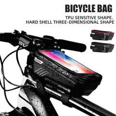 MTB Road Bike Phone Holder Bag Waterproof Bicycle Top Tube Mount Mobile Phone Case Pack Outdoor Cycling Supplies Dropshipping|Bicycle Bags & Panniers