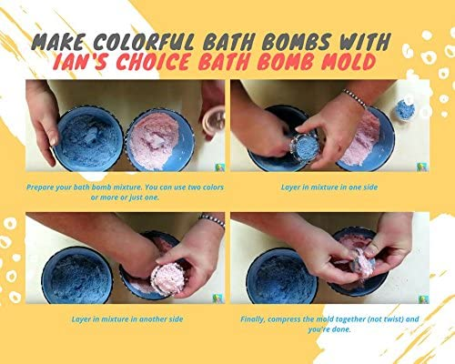 "Bath Bomb Molds by Ian's Choice - 15 Sets of Easy to Use, Better Than Silicone and Stainless Steel, Small 1.75"", Clear Plastic Bath Bomb Mold"