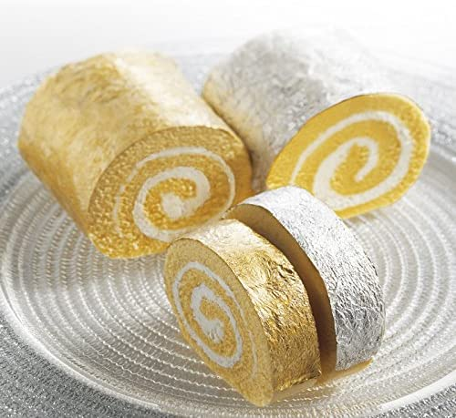 Genuine 24 Karat Edible Gold Leaf Sheets by Ian's Choice (15pc 3.15X3.15 Inch with 10 Bonus Silver Sheets) Elevate Cake Decorations, Gilding Desserts, Gold Glitter Dust Flakes: Arts, Crafts & Sewing