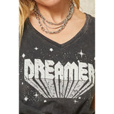 Dreamer Mineral Washed Vintage Graphic Tee