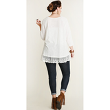 Cory Lace Trim Top