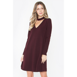 Claudia Choker Knit Dress