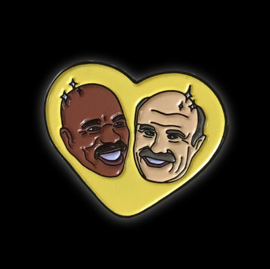 Dr Phil Steve Harvey enamel pin meme