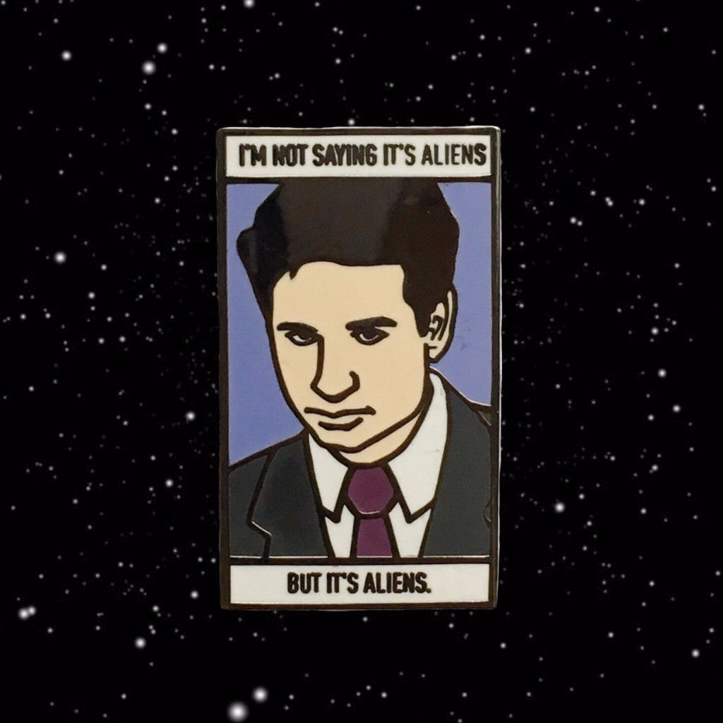 Agent Mulder I'm Not Saying it's Aliens, but it's Aliens Enamel Pin