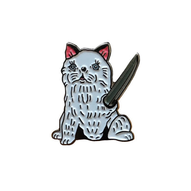 Sweet Tadeo Collaboration Enamel Pin with @hellohellcat | Cat collectible flair for your hat, lapel, jacket
