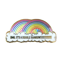 Double Rainbow Enamel Pin