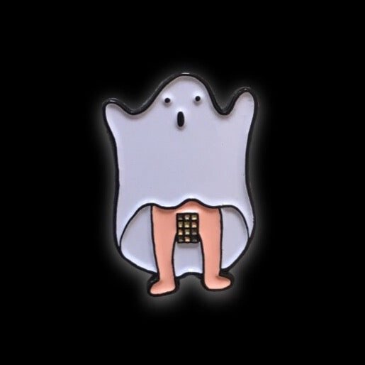 Ghost Collaboration Enamel Pin with @bootysaurusrex | Spooky collectible flair