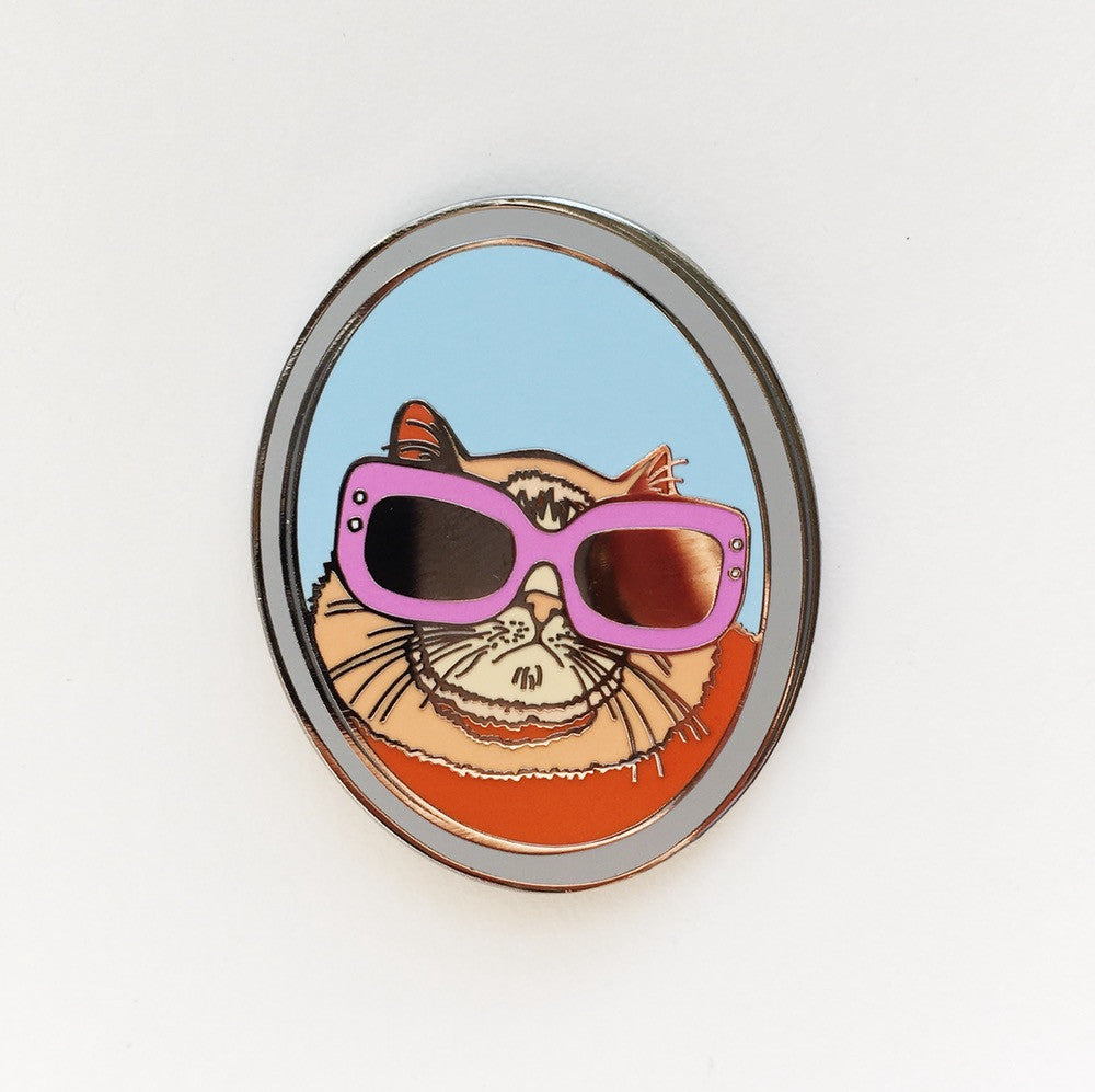 Peach The Cat Collaboration Enamel Pin With @michel_e_b