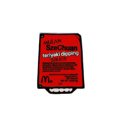 Mulan SzeChuan Teriyaki Dipping Sauce Enamel Pin | Rick and Morty collectible flair for your hat, lapel, jacket