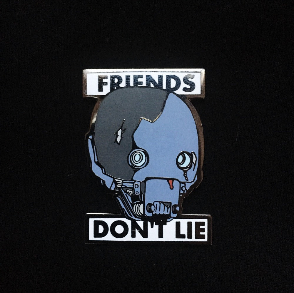 Star Wars Rogue One x Stranger Things mash-up K2-SO Friends Don't Lie Enamel Pin
