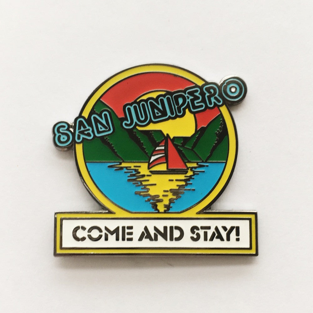 Black Mirror San Junipero Come and Stay Collectible Enamel Pin gay lgbtq