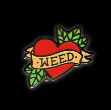 Love Weed Enamel Pin