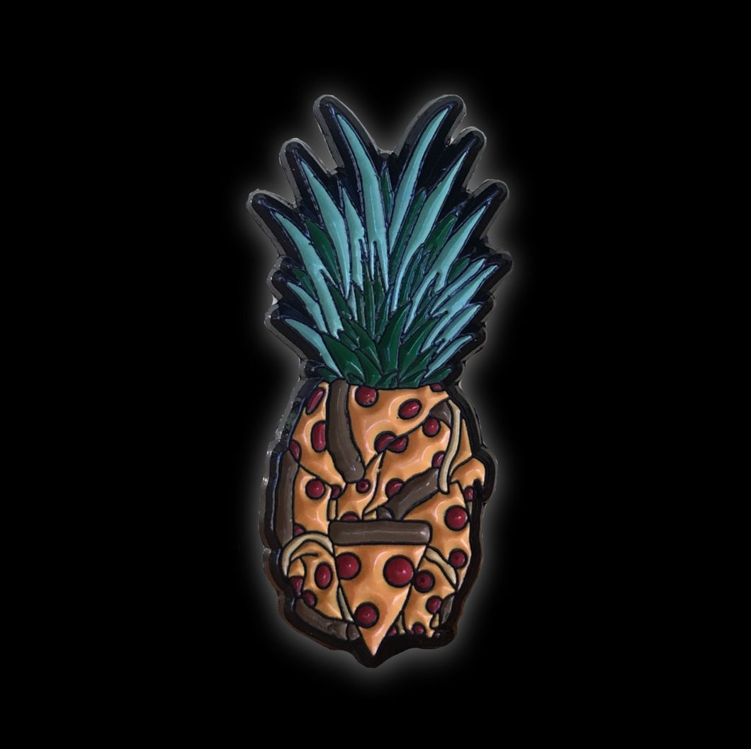 Pineapple Pizza #pinlordcollab winner enamel pin from @tnosrap and me, @pinlord