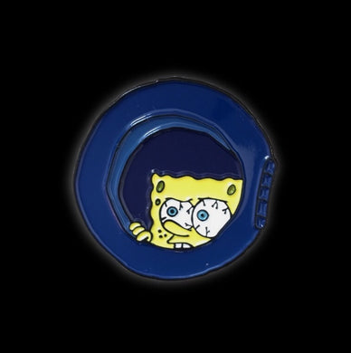 Spongebob Window Meme Enamel Pin | Spongebob Meme collectible flair for your hat, lapel, jacket