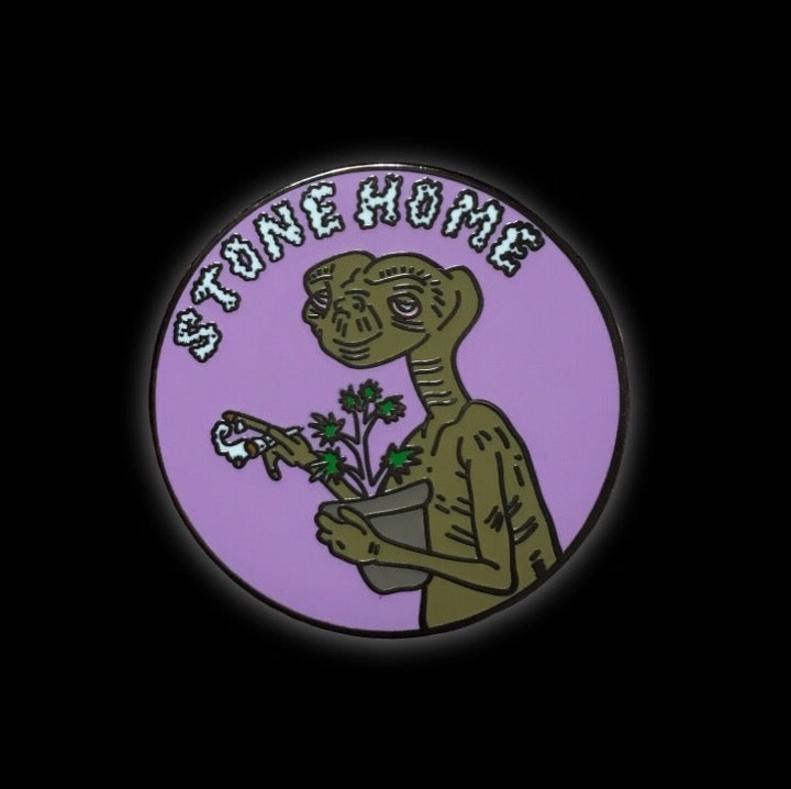 E.T. Stone Home Collaboration Enamel Pin with @pinlife | E.T. Stoner collectible flair for your hat, lapel, jacket