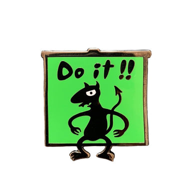 Do it! Luci Enamel Pin #pinlordcollab winner with @pinpongco