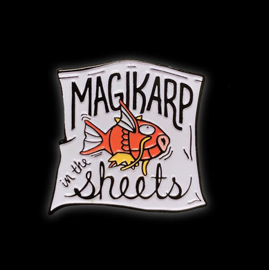 Magikarp In The Sheets Enamel Pin #pinlordcollab winner with @DesignPathology
