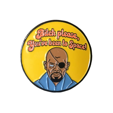 Nick Fury #pinlordcollab Winner Enamel Pin Made In Collaboration With @campfiredesignstudio