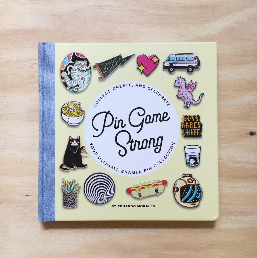 Pin Game Strong Enamel Pin Book