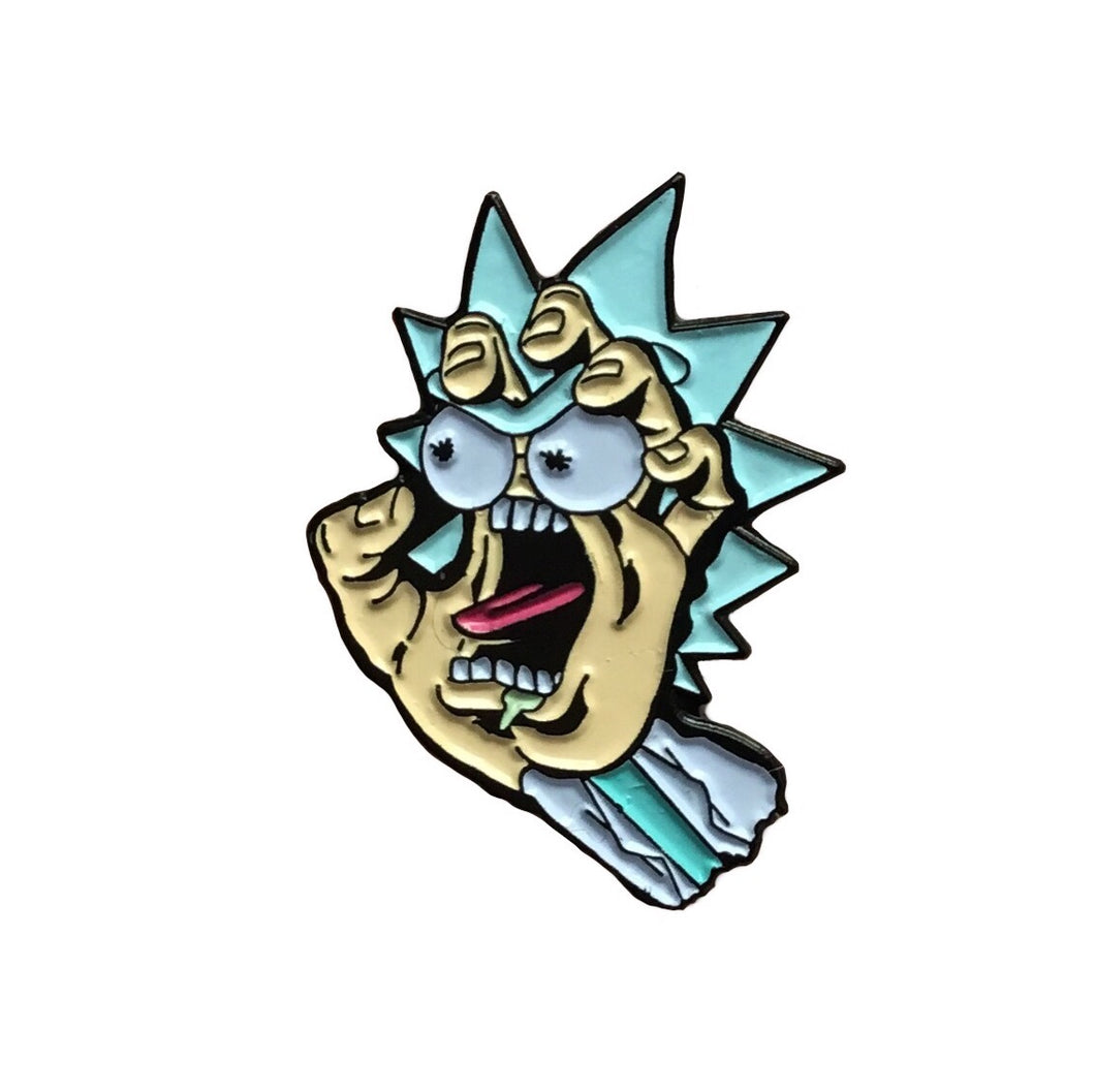 Santa Cruz Rick Collaboration Enamel Pin with @jjsti | Rick and Morty collectible flair for your hat, lapel, jacket