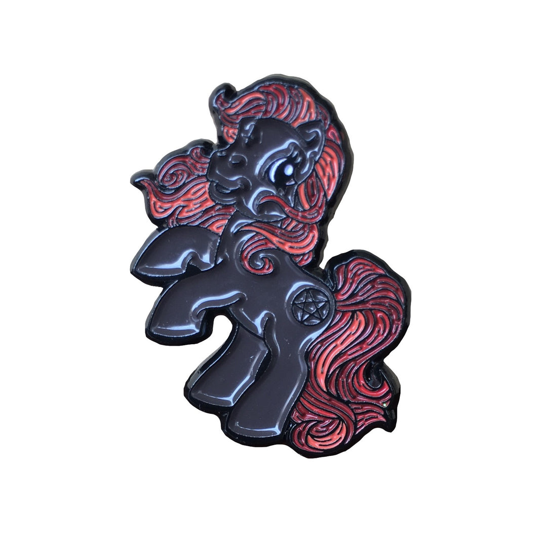 My Satanic Pony  #pinlordcollab winner pin from @romy_karina and me, @pinlord