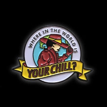 Where in the World is Your Chill Collaboration Enamel Pin with @nicetry.us | Where in the World is Carmen Sandiego nostalgia collectible flair for your hat, lapel, jacket