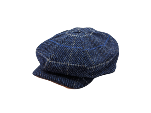JP Tweed Cap - Navy Overcheck Twill