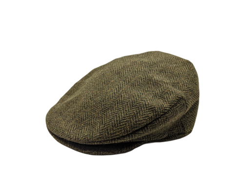 Vintage Tweed Cap - Green Herringbone