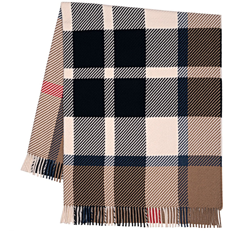 Darcy Thomson Camel Tartan Superfine Wool Throw