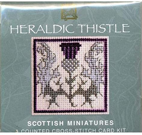 Heraldic Thistle Scottish Miniature Card