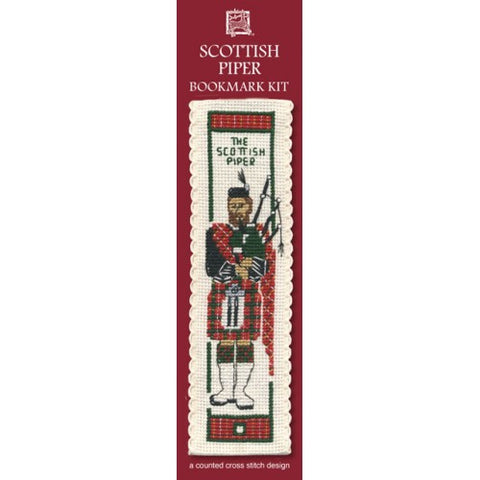 Scottish Piper Bookmark Kit