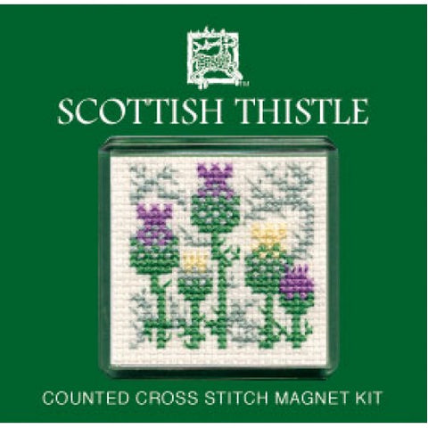 Scottish Thistle Cross Stitch Magnet Kit