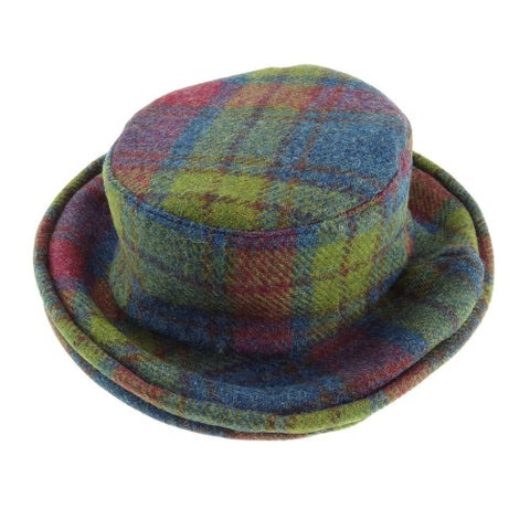 Multi Colour Tartan Harris Tweed Cloche Hat