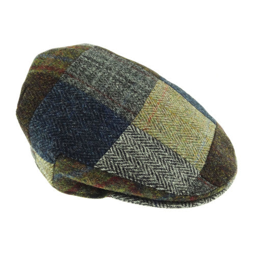 Harris Tweed Patch Cap in Assorted Tweeds