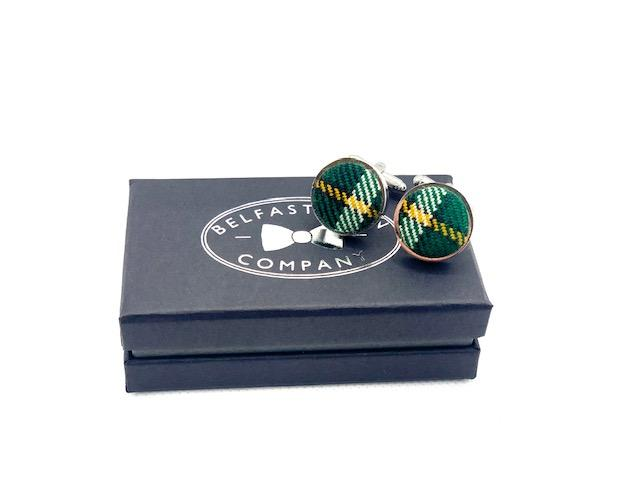 Irish National Tartan Rose & Cufflinks