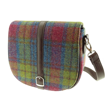 Multi Colour Tartan Harris Tweed Handbag
